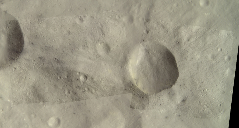 Dark spots on Vesta