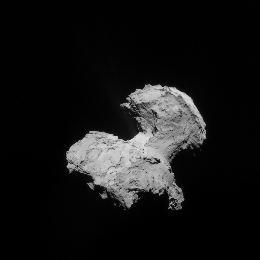 Before & after: Revealing Churyumov-Gerasimenko's jets