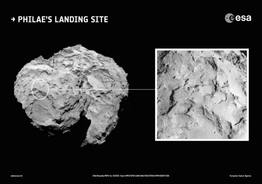 Philae's selected landing site: