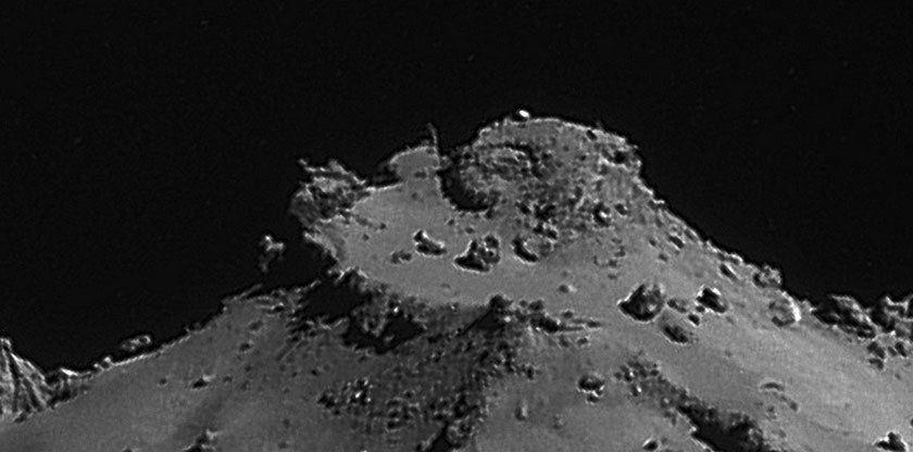Rosetta NavCam 67P Sep 14, 2014 detail #1