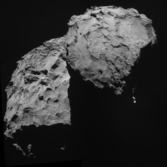 Rosetta view of Comet 67P/Churyumov-Gerasimenko on September 14, 2014
