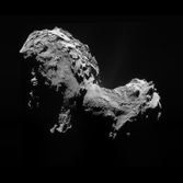 NavCam view of comet Churyumov-Gerasimenko on September 19, 2014