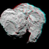 Synthetic 3D view of Churyumov-Gerasimenko from August 7, 2014 NavCam image