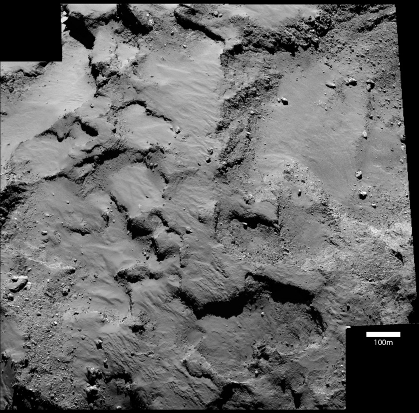 Rosetta OSIRIS context view of Philae's landing site