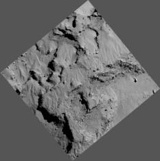 Philae's landing site in 3D