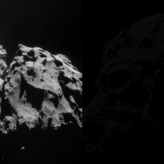 Rosetta NAVCAM mosaic of Comet 67P