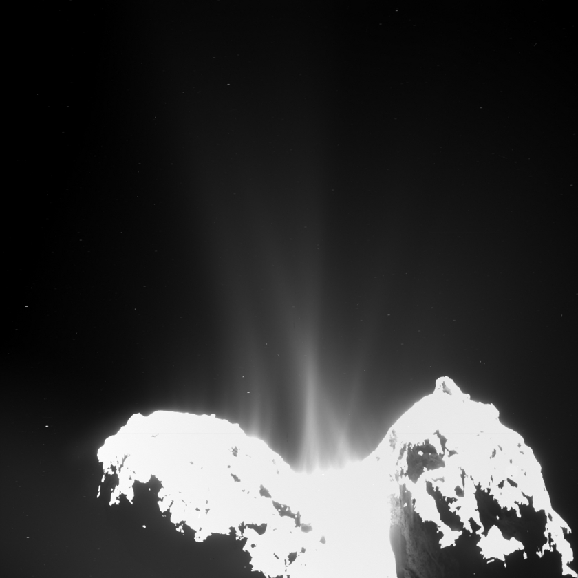 Comet Churyumov-Gerasimenko's jet activity on September 10, 2014