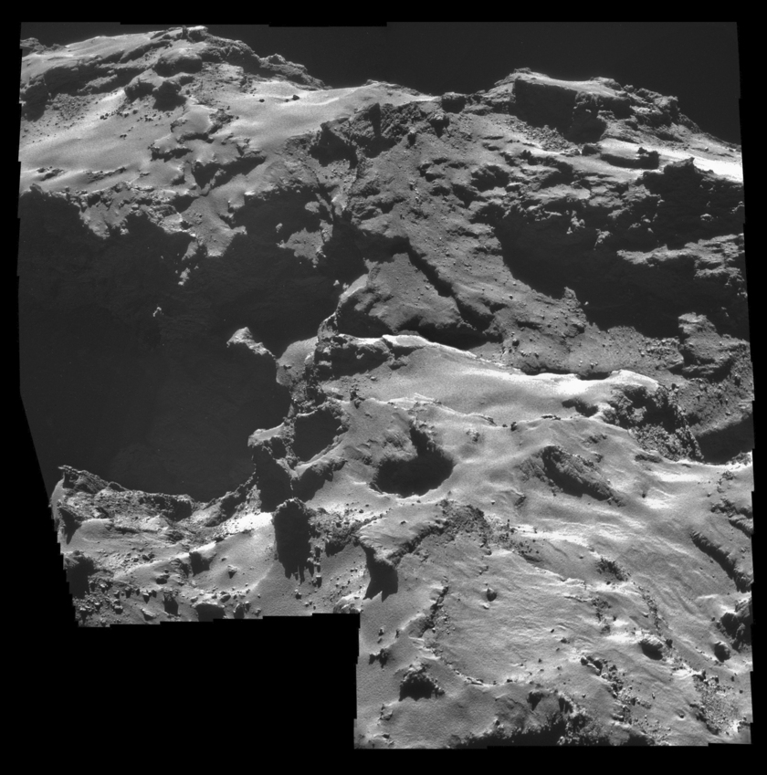 NavCam view of comet Churyumov-Gerasimenko on October 15, 2014
