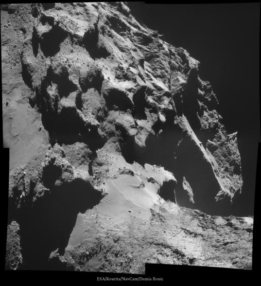 Jagged comet landscape, October 24, 2014