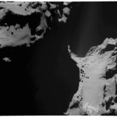 OSIRIS view of boulders and jets on comet 67P's neck, October 20, 2014