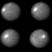 Four view of Ceres from Hubble