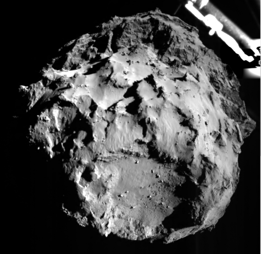 ROLIS' first image of Churyumov-Gerasimenko