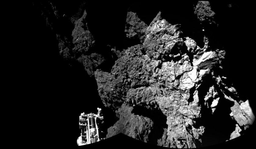Philae's first ÇIVA panorama from the surface of Churyumov-Gerasimenko