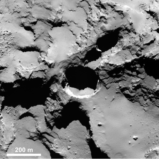 Before & after: Active pit in Seth region of comet Churyumov-Gerasimenko