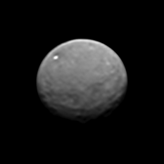 Dawn's view of Ceres on January 25, 2015 (super-res stack of 9 images)