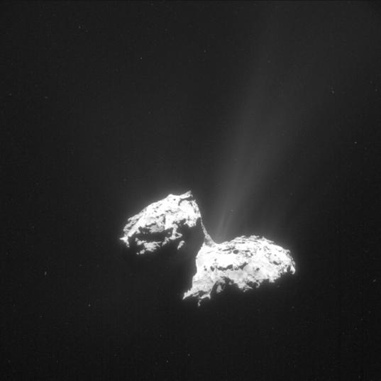 An active comet, from a distance