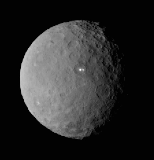 Two bright spots on Ceres