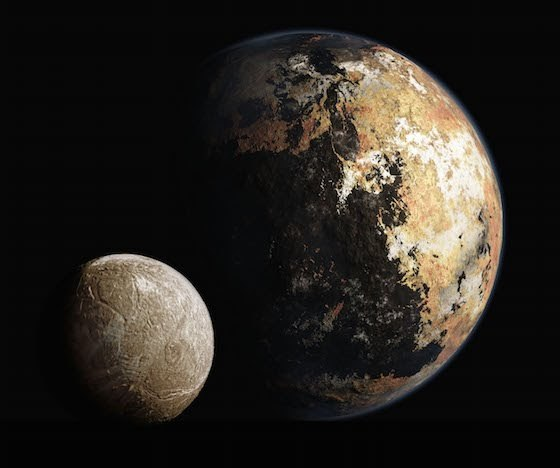 Artist's concept of Pluto and Charon
