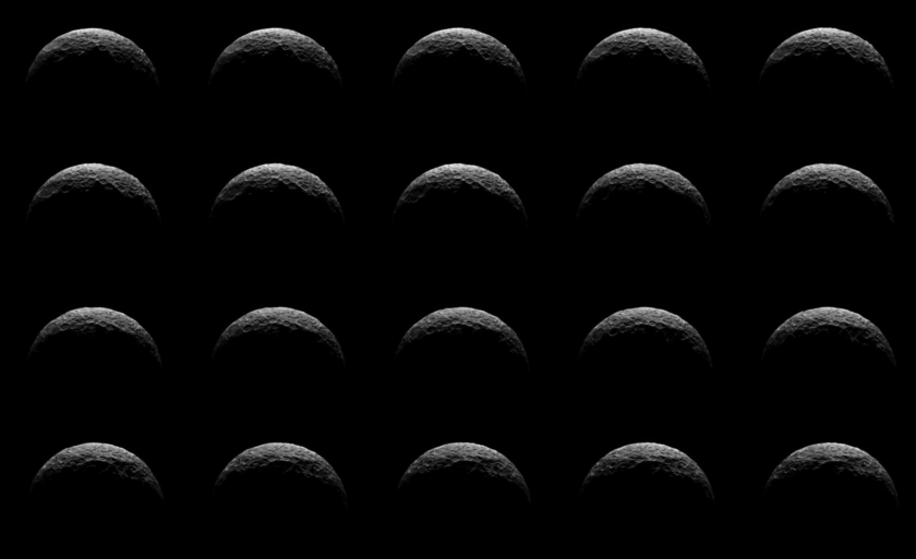 Dawn optical navigation sequence on Ceres, April 10, 2015 (individual frames)