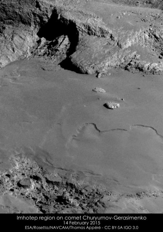 Imhotep region on comet Churyumov-Gerasimenko