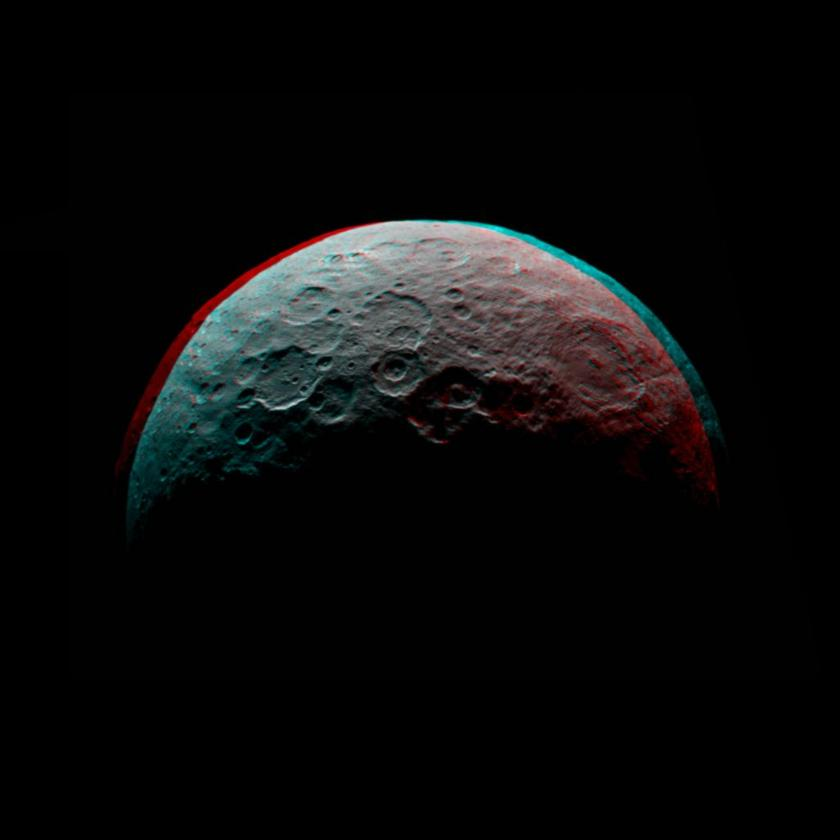 Ceres anaglyph from Dawn RC3 orbit