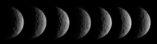 Images of Ceres' south pole from Dawn's first science orbit