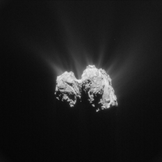 Equatorial view of comet Churyumov-Gerasimenko