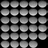 51 views of Ceres, Dawn Rotation Characterization 3, May 4, 2015