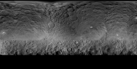 Global map of Ceres as of May 16, 2015