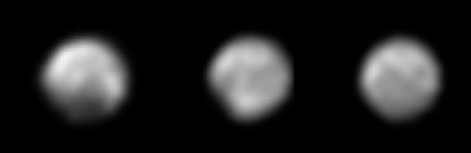 Three views of Pluto, May 8-12, 2015
