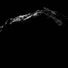 NavCam view of comet Churyumov-Gerasimenko on September 27, 2014: night excursion
