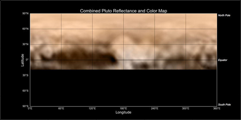 New Horizons' first color map of Pluto's surface