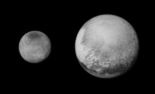 Pluto and Charon on July 12, 2015