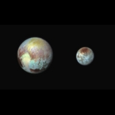 Pluto and Charon in false color