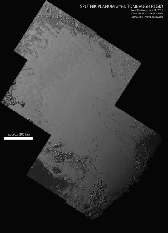 Sputnik Planum within Tombaugh Regio, Pluto