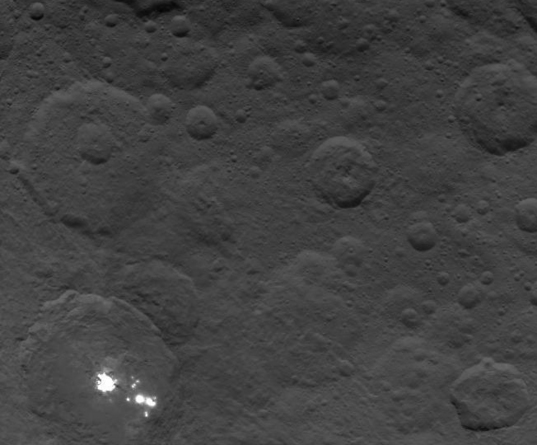 Bright spots in Occator Crater, Ceres