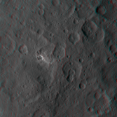 A small, bright Cerean crater in 3D