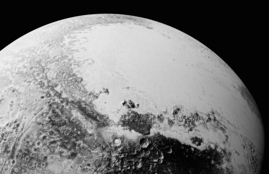 Looking over Pluto
