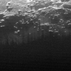 Near-surface haze or fog on Pluto