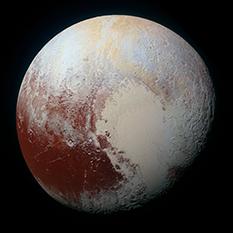 High-resolution enhanced-color global MVIC portrait of Pluto