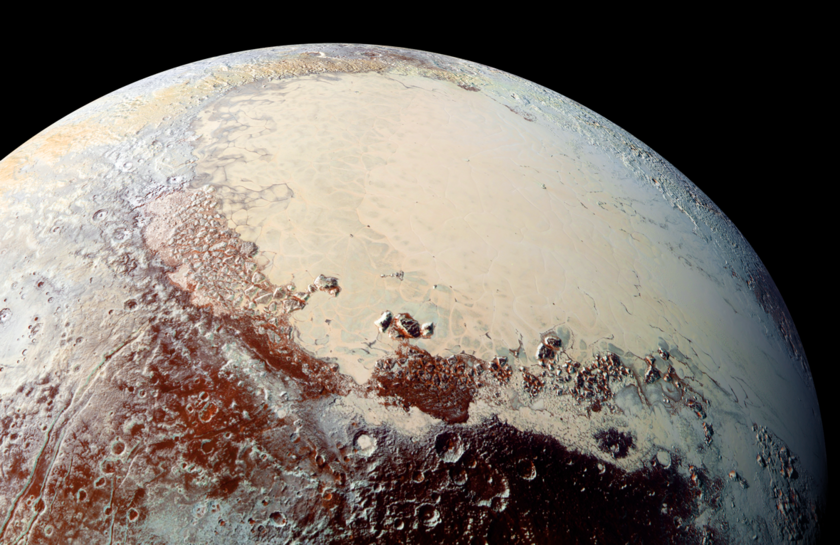 Pluto's brilliant 'heart'