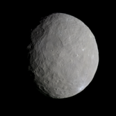 Color global view of Ceres: Urvara and Yalode basins