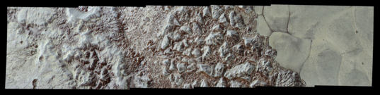 Pluto's close-up, now in color