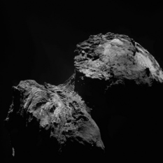 OSIRIS view of Comet Churyumov-Gerasimenko on December 11, 2015