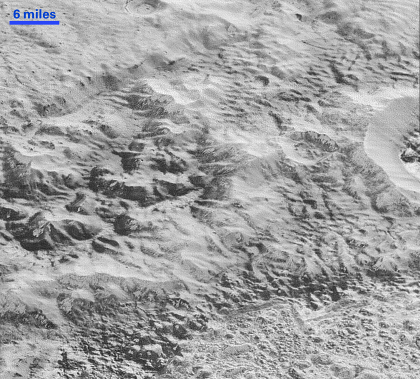 Pluto's badlands