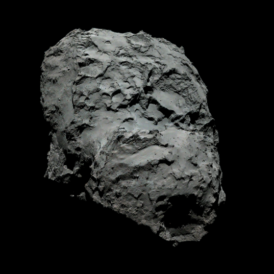 Color portrait of 67P
