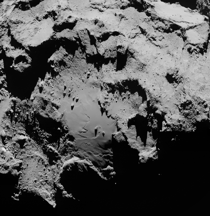 High-resolution mosaic of the surface of comet 67P