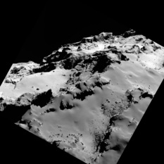 Over the shoulder of 67P