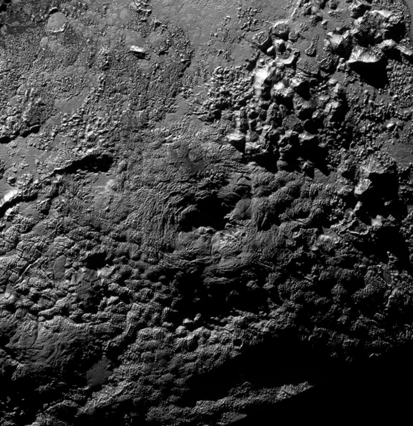 An ice volcano on Pluto?