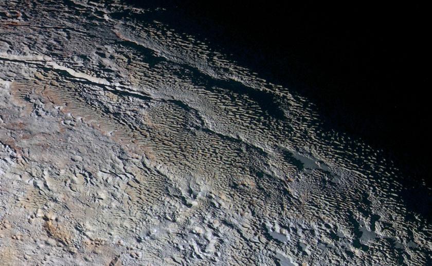 'Snakeskin' terrain on Pluto